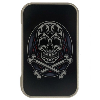 Skull and Crossbones Small Metal Storage Box