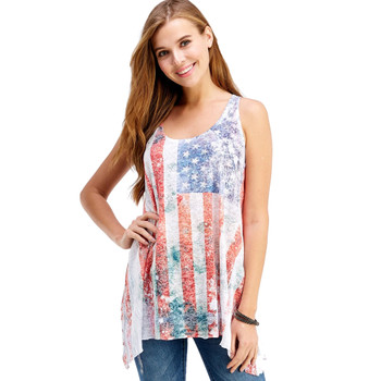 American Flag Tank Top Shirt front view