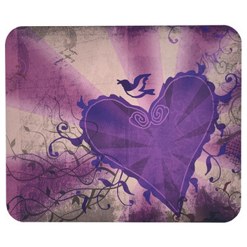 Purple Heart and Swallow Mouse Pad Mat