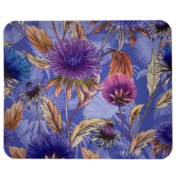 Aster Floral Print Mouse Pad Mat