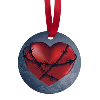 Barbed Wire Heart Hanging Decoration