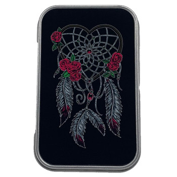 Red Rose Dream Catcher Small Tin Box