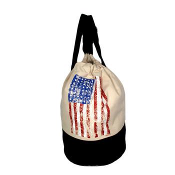 American Flag  duffel backpack .