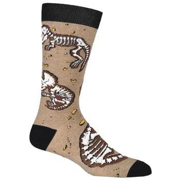 Dinosaur Bones Men's Crew Socks