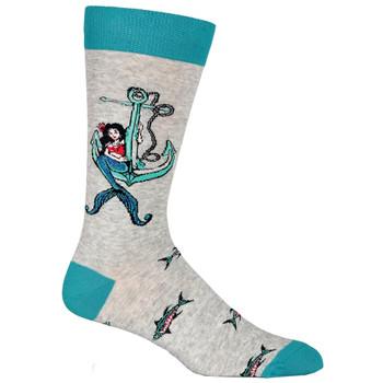 Nautical Mermaid Men's Crew Socks