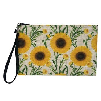 Sunflower Wristlet Cosmetic Makeup Bag