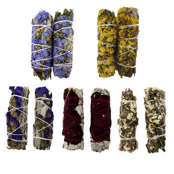 2 pack of flower covered California sage wands.