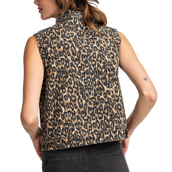 Leopard Animal Print Vest back view