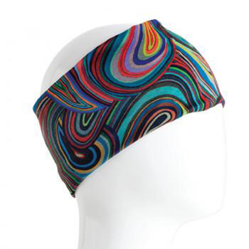 Colorful swirl headband bandana.
