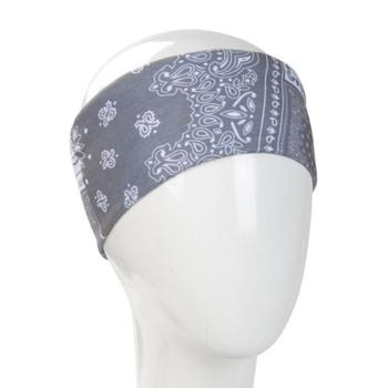 Gray bandana infinity headband.