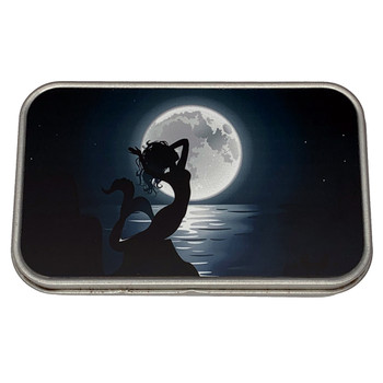 Moonlight Mermaid Small Metal Tin Storage Box