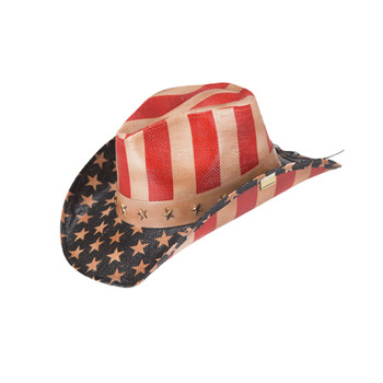 Old Glory stars and stripes western cowboy hat.