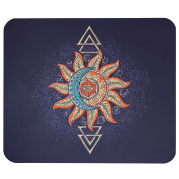 Tribal Moon and Sun Mouse Pad Mat