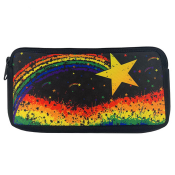 Star Rainbow Pride Cosmetic Makeup Bag