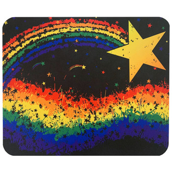 Rainbow Pride Star Mouse Pad Mat