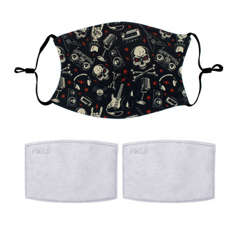 Rocker style design face masks with 2 filters.