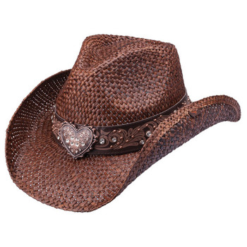 Women's Flint heart bling cowboy hat.