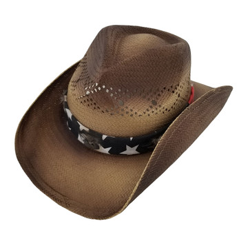 Barack unisex cowboy hat with stars and stripes bandana.