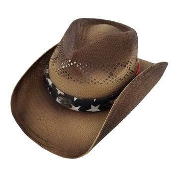 Barack unisex cowboy hat with stars and stripes bandana.