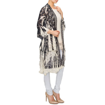 Women's long lace jacket side view