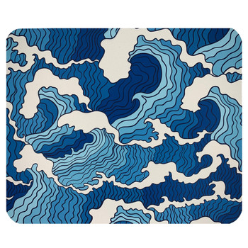 Abstract Waves Mouse Pad Mat