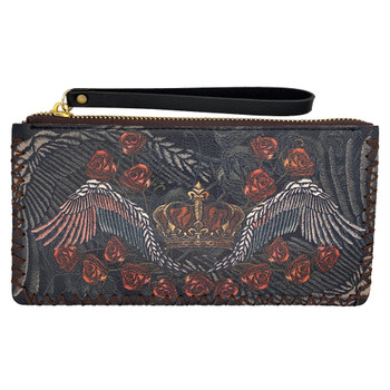 Crown and Roses Wristlet Wallet