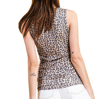 Leopard Tank Top back view
