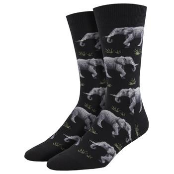 Raising A Herd Elephant Men's Crew Socks