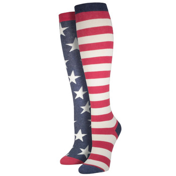 American Flag Women's Knee High Socks