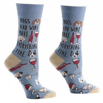 Dogs and Wine Women's Crew Socks