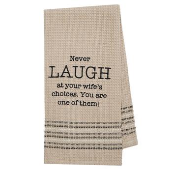Laugh Cotton Weave Kitchen Dishtowel