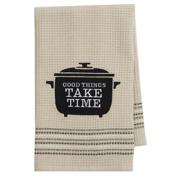 Good Things Take Time Cotton Kitchen Dishtowel