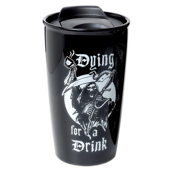 Dying For A Drink Double Walled Travel Mug