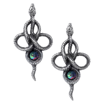 Alchemy Gothic - E441 - Tercia Serpent Earrings