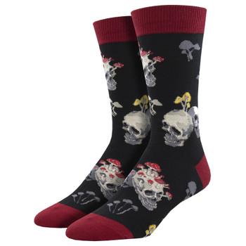 Bone Head Skulls Men's Crew Socks