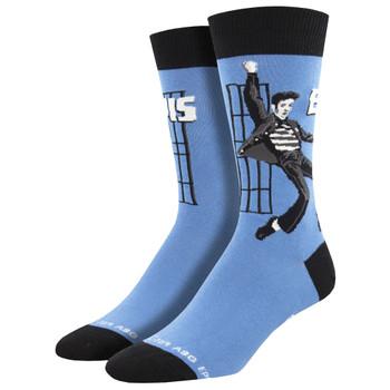 Elvis Jailhouse Rock Men's Crew Socks