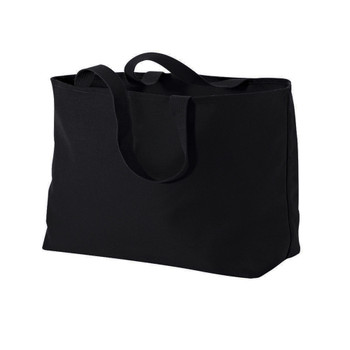Blank picture of  large jumbo canvas tote.