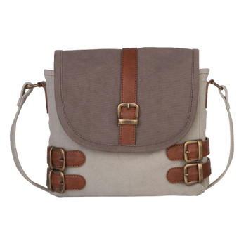 Mona B. Buckled Up Crossbody Canvas Purse