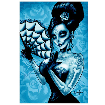 Blue Day of the Dead by Marcus Jones Canvas Giclee