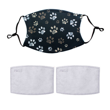 Dog paws design adjustable mask with 2 filters.