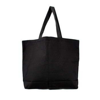Back side of large black tote.
