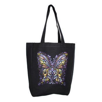 Colorful Butterfly Tote Bag Shopper