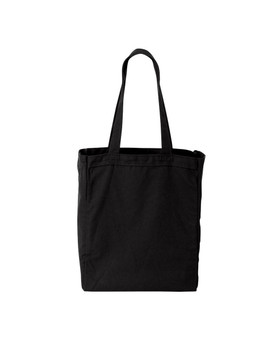 Black Cotton Twill Grocery Tote with Black and White Owl Travel Beach Bag