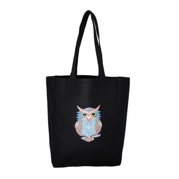 Owl black tote.
