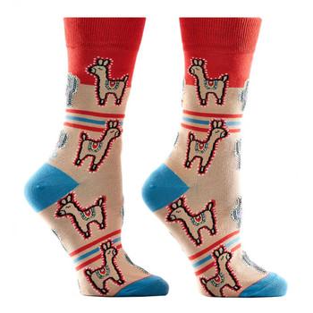 Cactus and LLamas Women's Crew Socks
