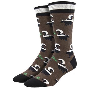 Funky Skunky Men's Crew Socks