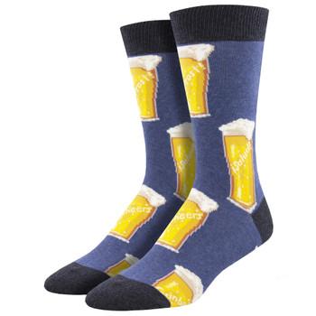 Cheers Beer Mugs Men's Crew Socks