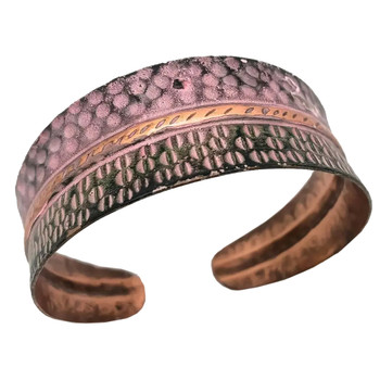 Half Circles Copper Patina Bracelet