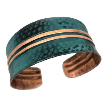 Bands Copper Patina Bracelet Cuff