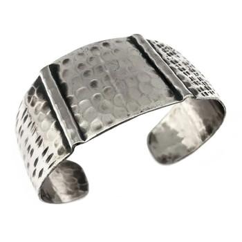 Kashi Hammered Embossed Bracelet Cuff